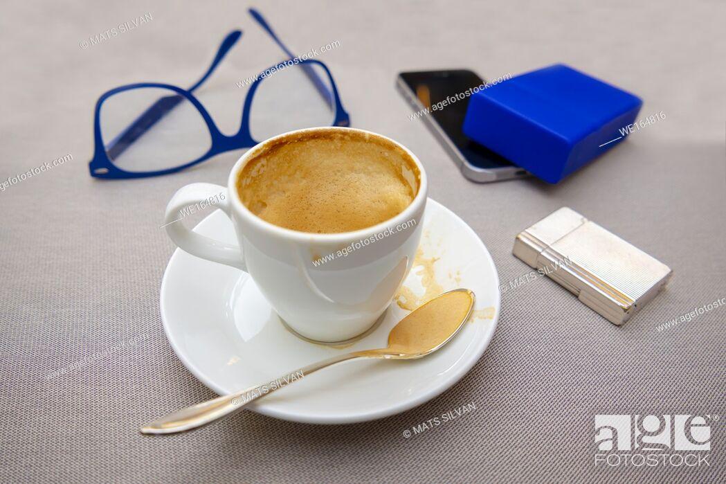 Stock Photo: Coffee and Business Break in Ascona, Switzerland.