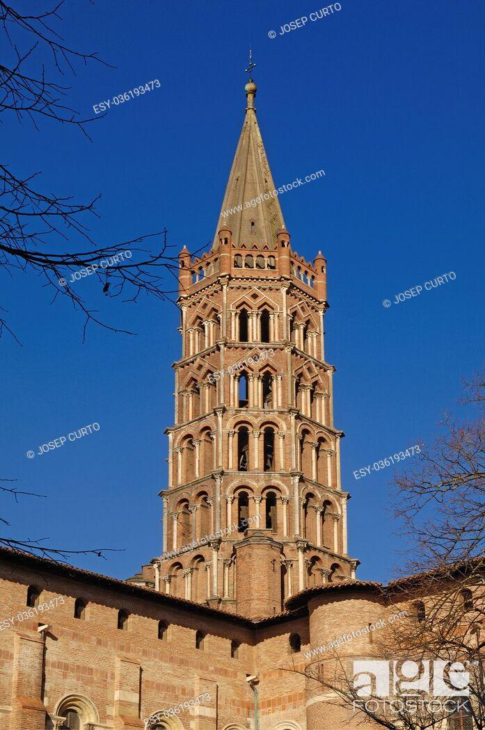 Photo de stock: Basilica of Saint Sernin in Toulouse, France.