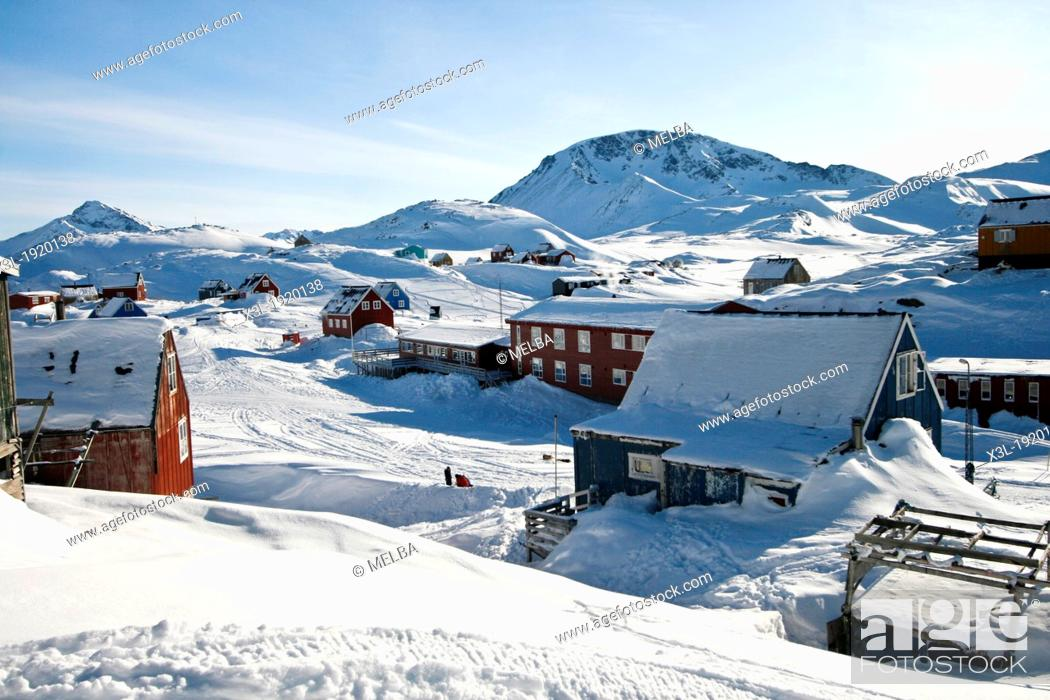 Stock Photo: Kulusuk  Greenland.