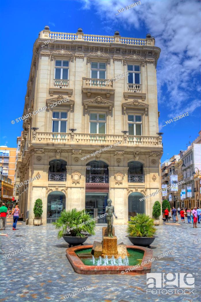 Stock Photo: HDR a traditional building in the streets in the city of Cartagena, Region of Murcia, South Eastern Spain.