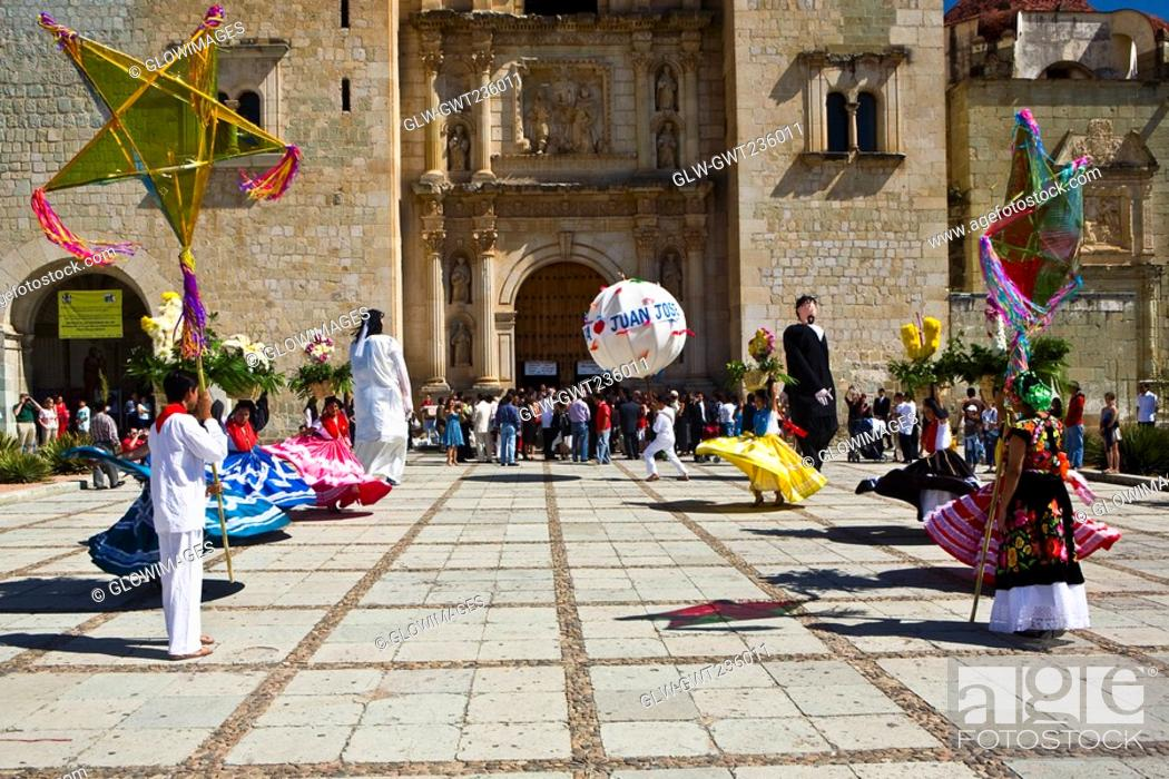 Stock Photo: Dancers at a wedding ceremony, Oaxaca, Oaxaca State, Mexico.