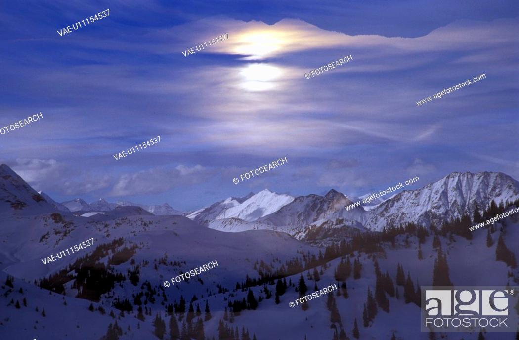 Stock Photo: blue, idyllic, day, dawn, aichner.