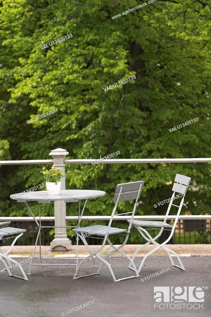 Stock Photo: Chairs, Day, Leaves, Nature.