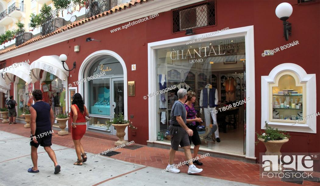 Italy, Campania, Capri, boutiques, shops, Stock Photo, Picture And ...