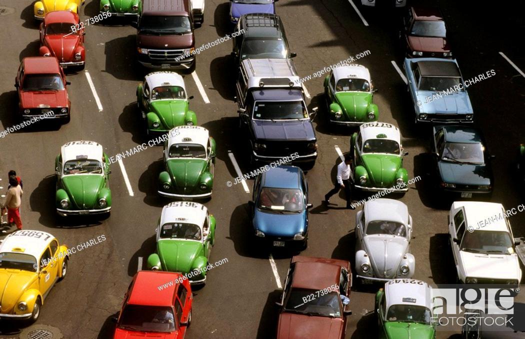Stock Photo: Traffic, Mexico City, Mexico.