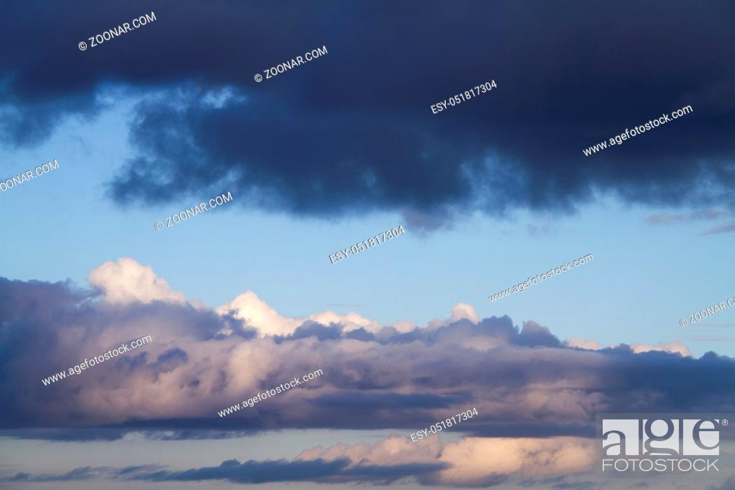 Stock Photo: Blue sky background with clouds.