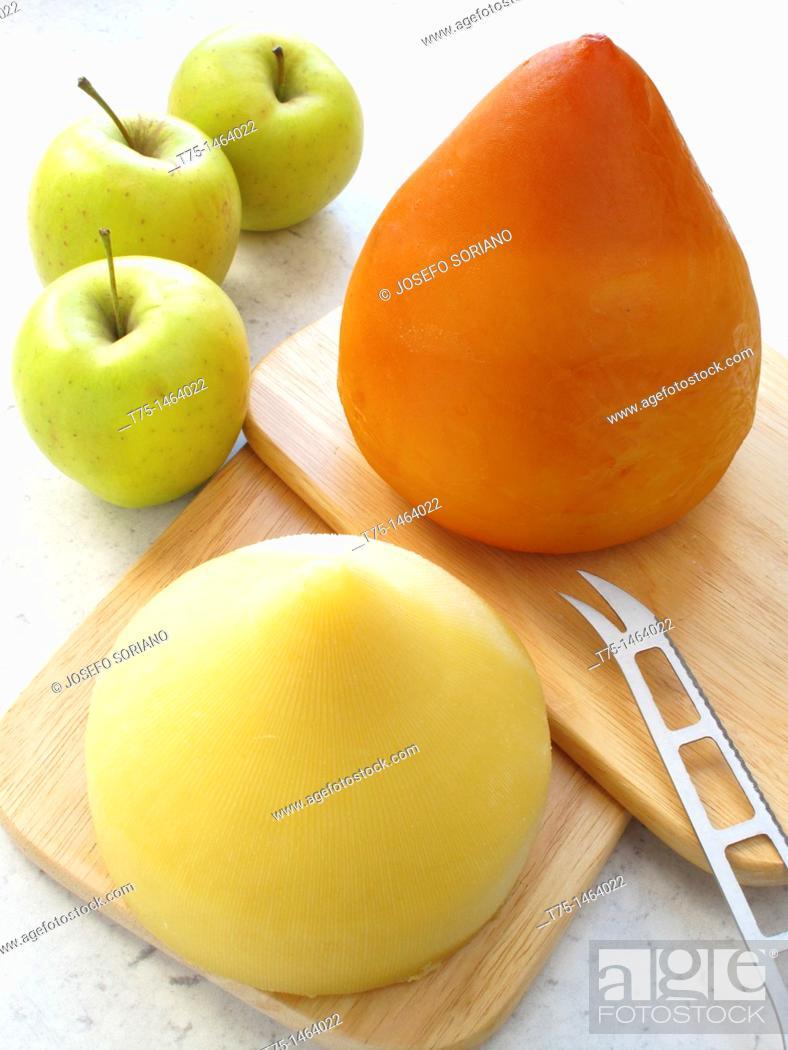 Stock Photo: Nipple cheese, Galicia Spain.