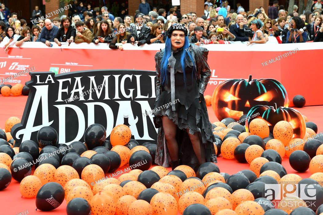 Imagen: Loredana Berte' during the red carpet of cartoon ' La famiglia Addams ' at the 14th Rome Film Festival, Rome, ITALY-20-10-2019.