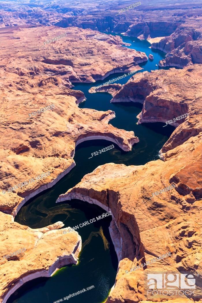 Stock Photo: Colorado River, Lake Powell, Page, Arizona, Usa, America.