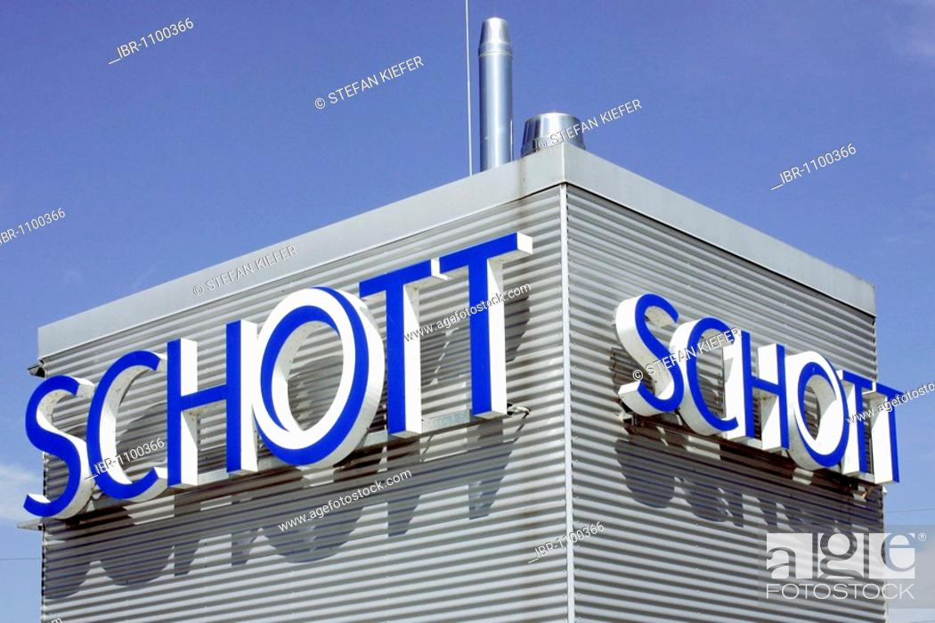 Company Logo Of The Schott Ag On The Company Grounds Of Schott