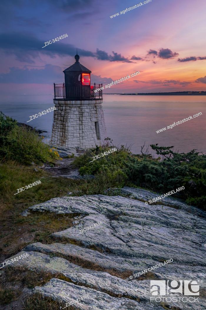 Stock Photo: Castle Hill Light.