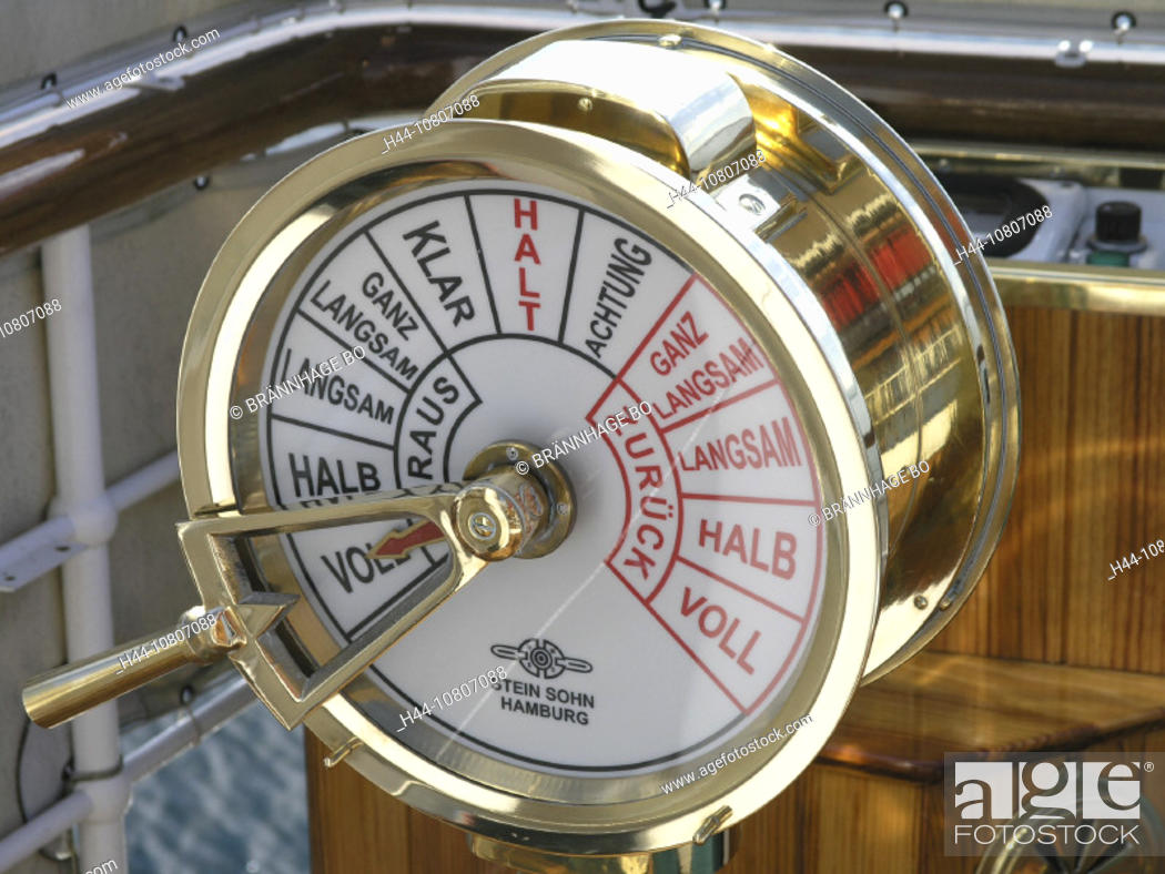 control, detail, DS Hohentwiel, gas lever, helm, lake, Lake of