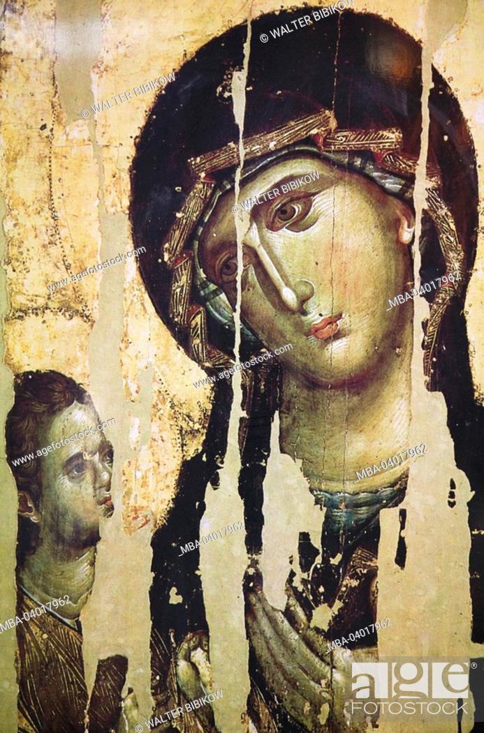 Imagen: Serbia, Belgrade, church Sveti Save, Serbian-orthodox, inside, icon,.