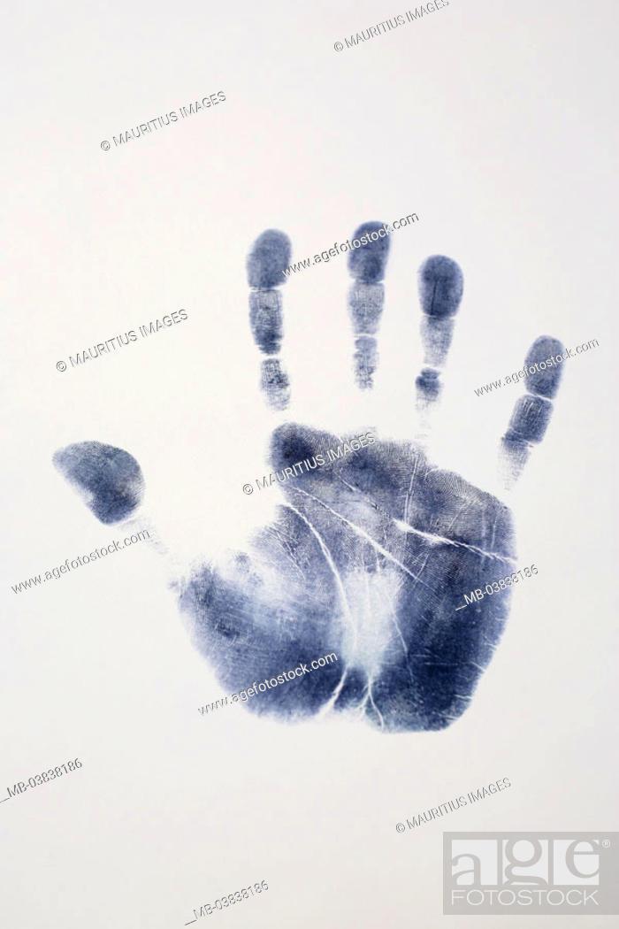Hand Mark Series Mark Hand Palm Fingers Papillarlinien
