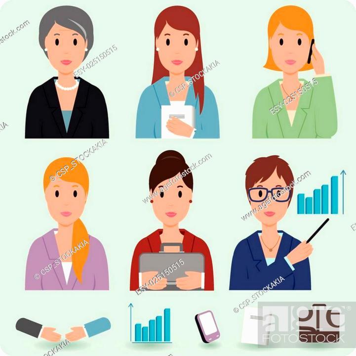 Stock Vector: Business women.