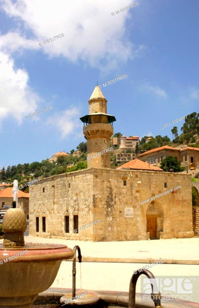Stock Photo: Fakhreddine Al Maani, the first Mosque in Deir Al Qamar in Lebanon.