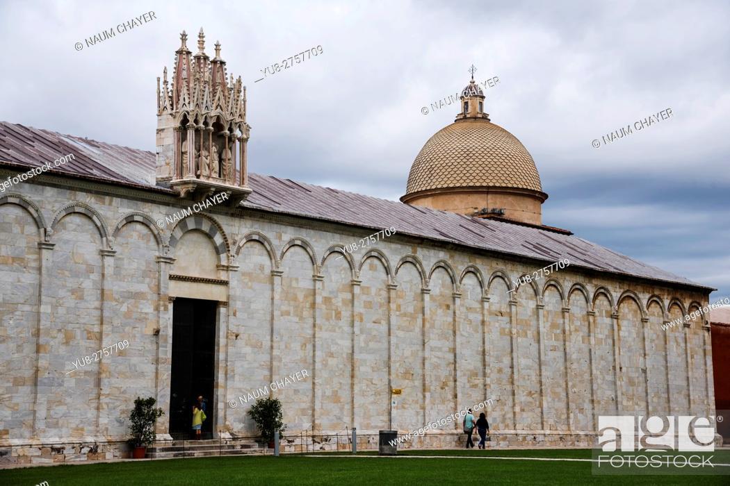 Stock Photo: The Campo Santo, Camposanto Monumentale or Camposanto Vecchio, is a historical edifice Pisa, Italy.