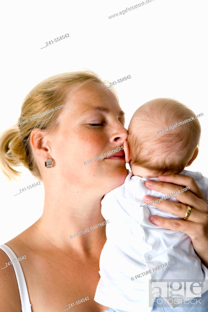 Stock Photo: Mother and baby.
