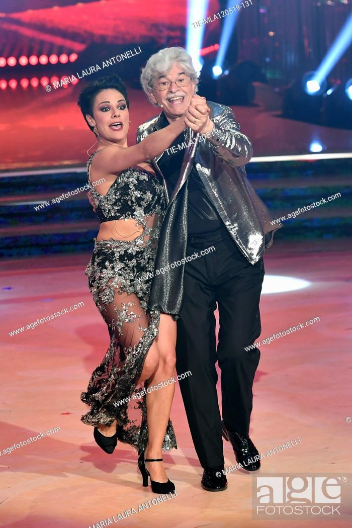 Imagen: Antonio Razzi during the performance at the tv show Ballando con le setelle (Dancing with the stars) Rome, ITALY-11-05-2019.