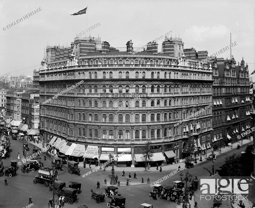 The Grand Hotel On The Corner Of Northumberland Avenue And Trafalgar Square London 1913 Stock Photo Picture And Rights Managed Image Pic Hez 1230592 Agefotostock