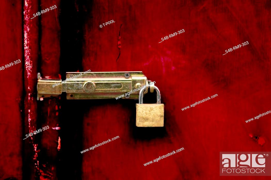 Door closer, lock, Stock Photo, Picture And Rights Managed