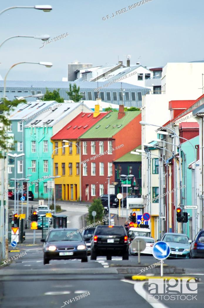 Stock Photo: Reykjavik city, Iceland.