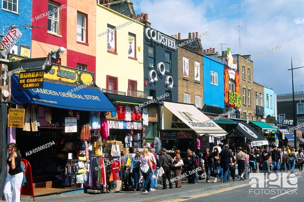 Stock Photo: England - London - Camden Town district - Camden Town and Camden Lock Market.