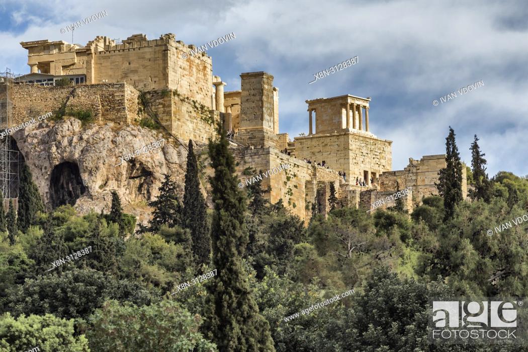 Stock Photo: Acropolis from Ancient Agora , Athens, Greece.