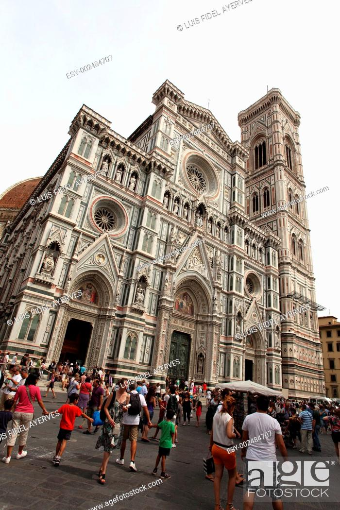 Stock Photo: Cathedral of Florence, Florence, Tuscany, Italy.