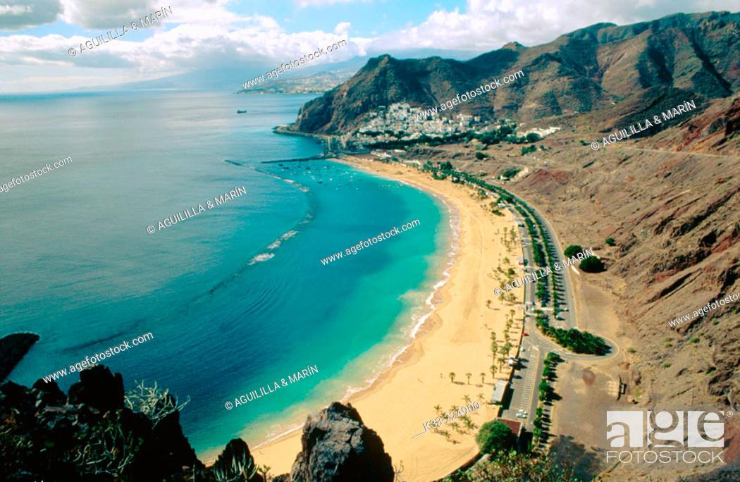Stock Photo: Teresitas' beach. Tenerife. Spain.