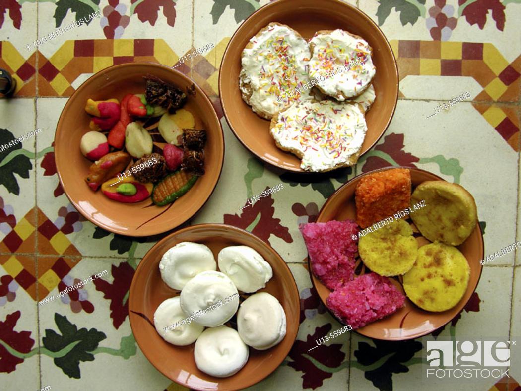 Stock Photo: Campeche typical sweets for Dia de los Muertos. Mexico.
