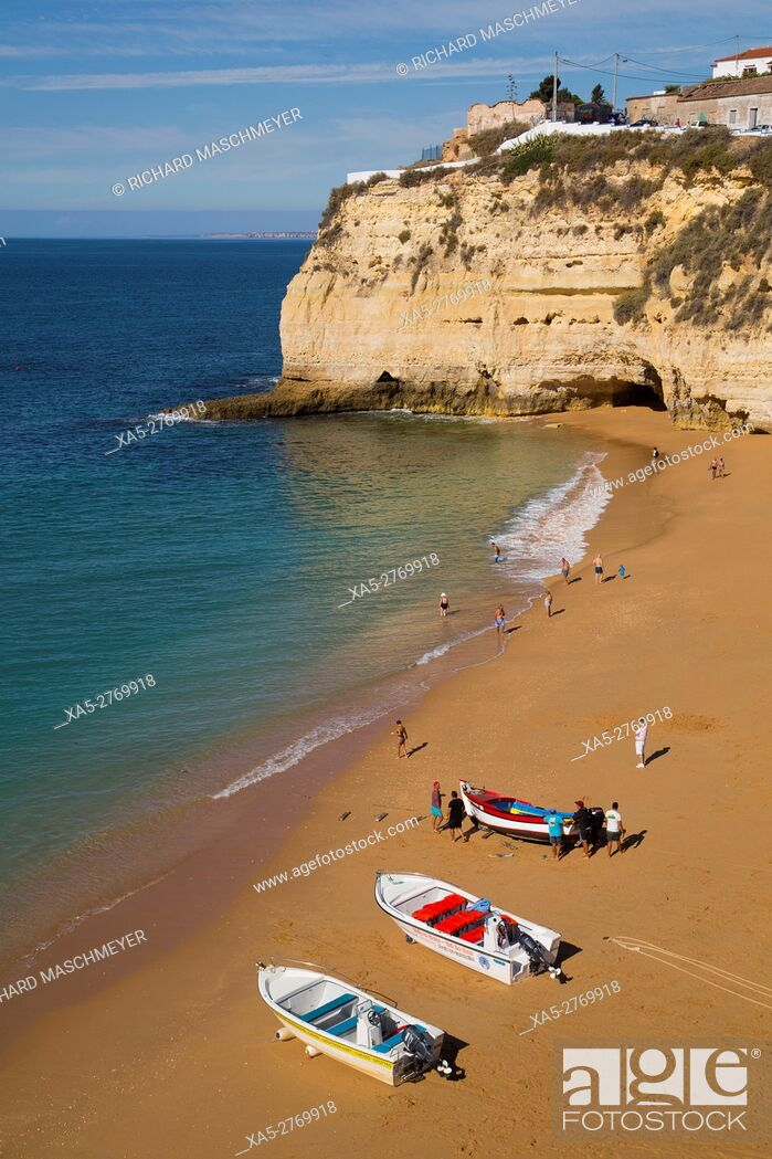 Stock Photo: Carvoeiro Beach, Lagoa, Algarve, Portugal.
