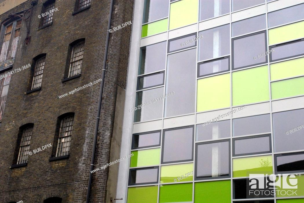 Modern Glass Office Next To Victorian Brick Building South London