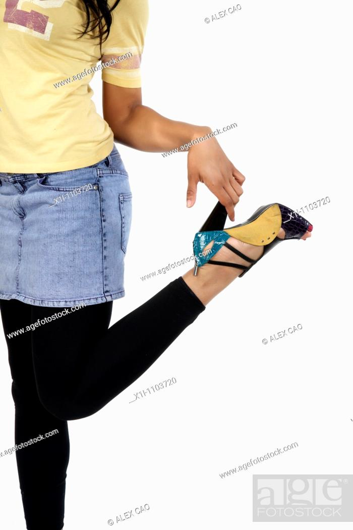 Stock Photo: Woman's shoe.
