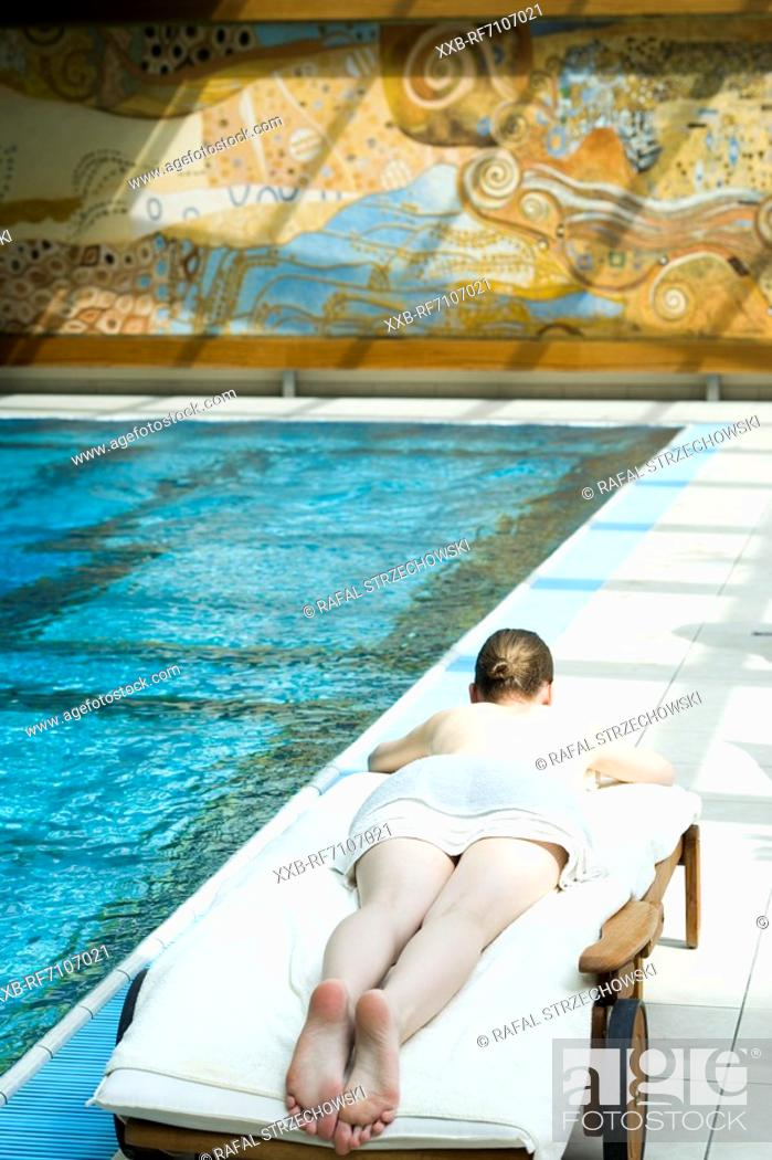 Stock Photo: Relax on the pool.