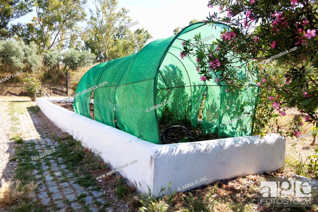 Stock Photo: homemade container for composting organic matter, Jerez de la Frontera, Cadiz, Andalucia, Spain, Europe.