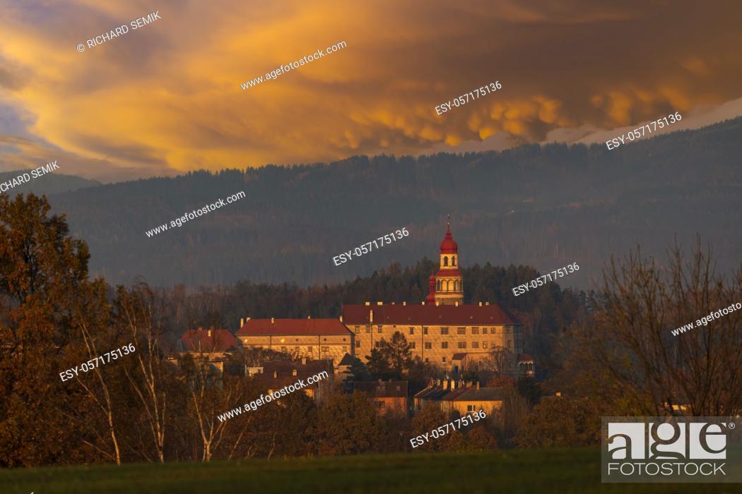Stock Photo: Nachod castle, Eastern Bohemia, Czech Republic.