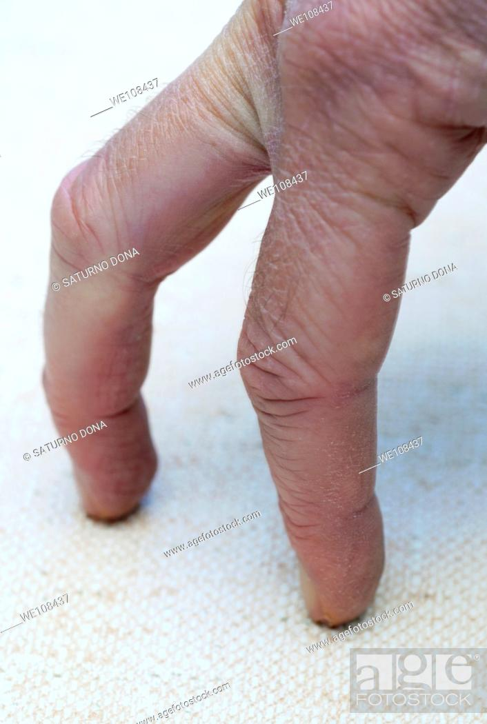 Stock Photo: fingers walking on table.