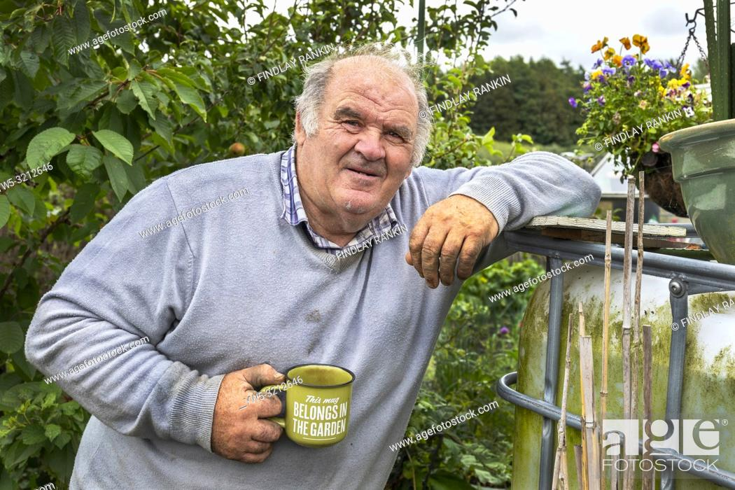 Stock Photo: Plot 10 William Dorans, Eglinton Growers Allotments, Kilwinning, Ayrshire, Scotland, UK.