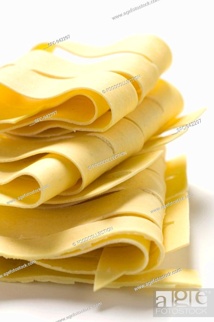 Stock Photo: Pappardelle.