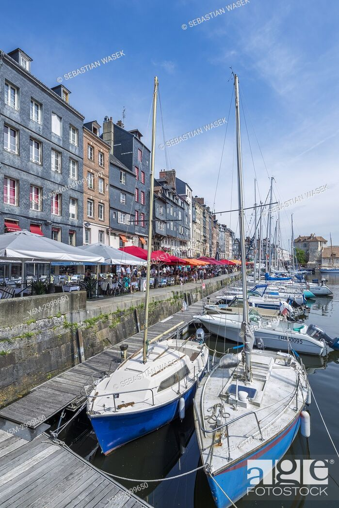 Stock Photo: The old harbour Honfleur, Calvados, Normandy, France, Europe.