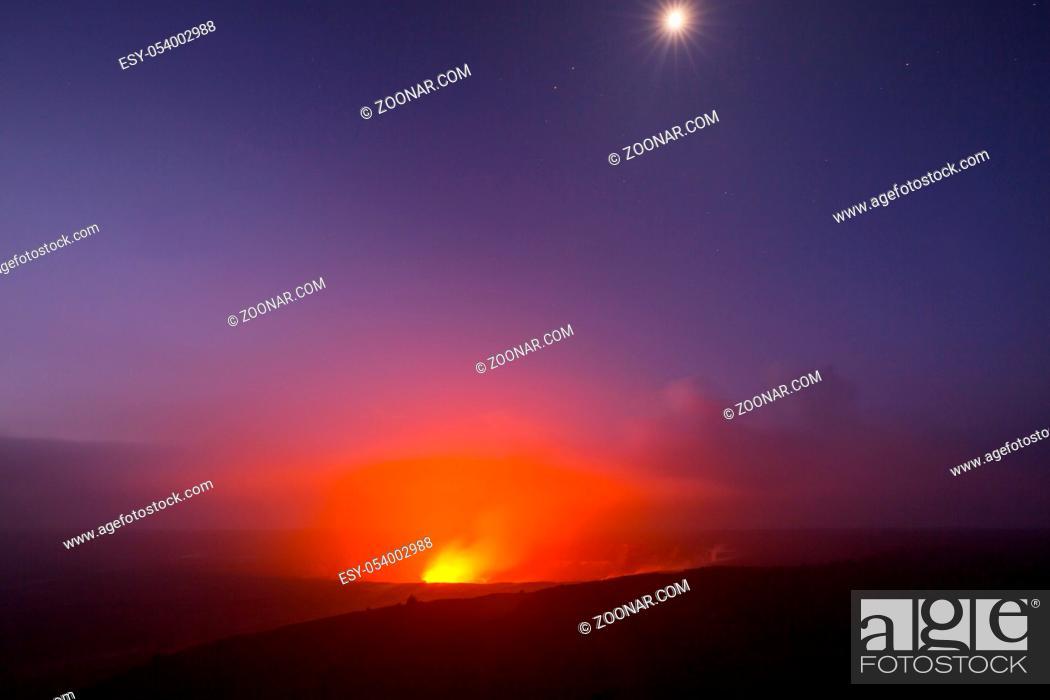 Stock Photo: Kilauea Active Volcano on Big Island, Hawaii.
