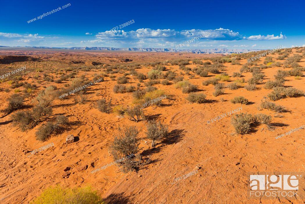 Stock Photo: Arizona Desert Near Horseshoe Bend.