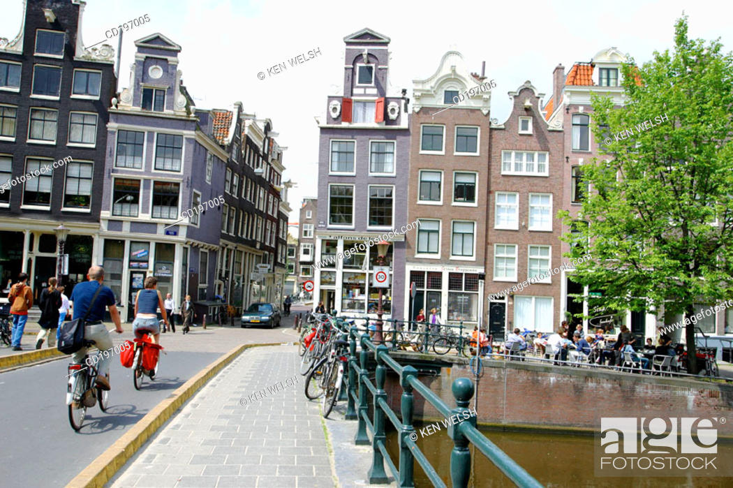 Stock Photo: Bridge across Singel canal. Amsterdam. Holland.