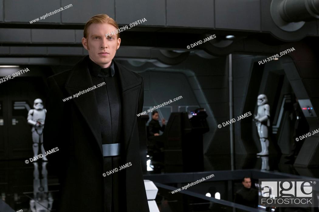 """Stock Photo: """"""""""""Star Wars: The Last Jedi"""""""" (2017) General Hux (Domhnall Gleeson) Lucasfilm Ltd."""