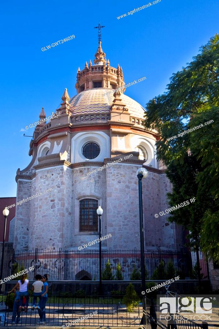 Stock Photo: Low angle view of a church, Templo De San Diego, Aguascalientes, Mexico.