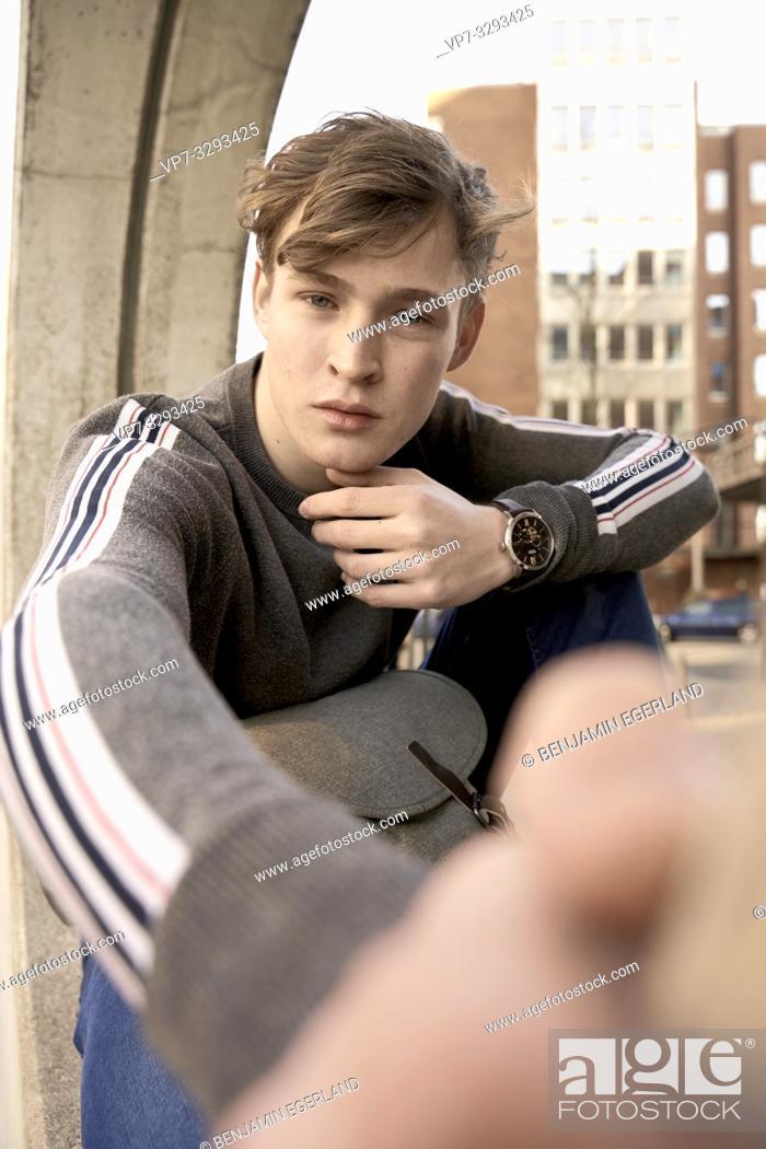 Imagen: young model man, in Hamburg, Germany.