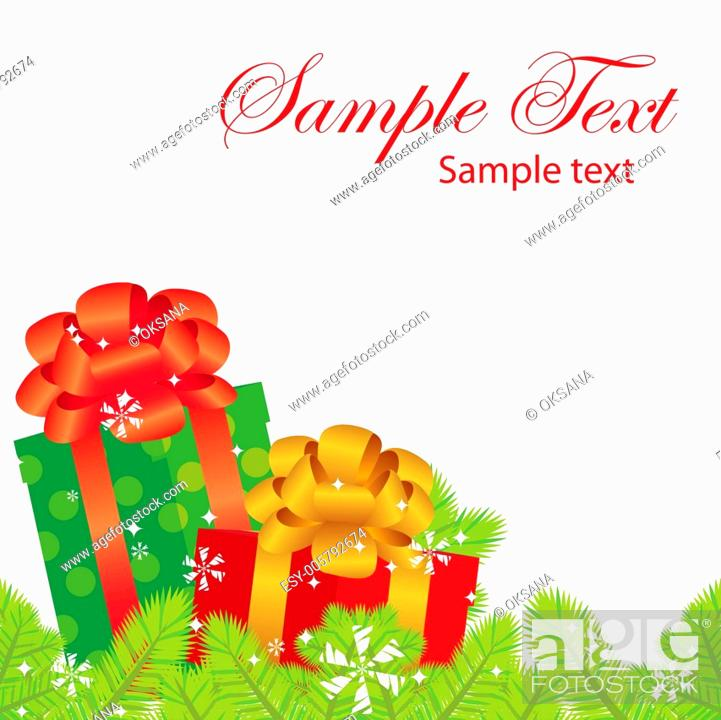 Stock Vector: vector New Year banner, christmas banner with gifts.