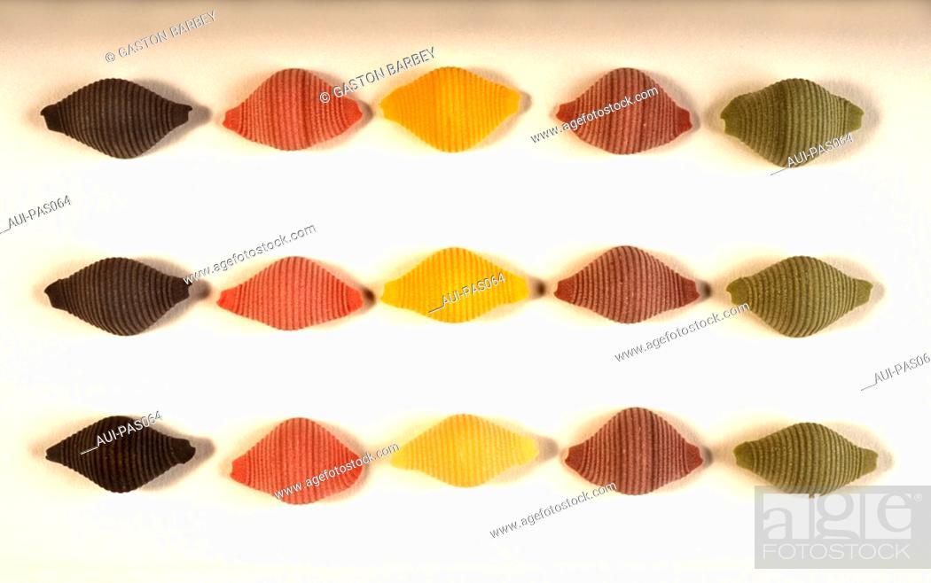 Stock Photo: Pasta - Conchigli 5 Colors.