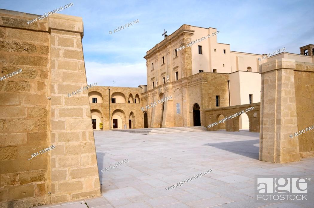 Stock Photo: Sanctuary (Basilica of Santa Maria De Finibus Terrae), Santa Maria di Leuca, Apulia, Italy.